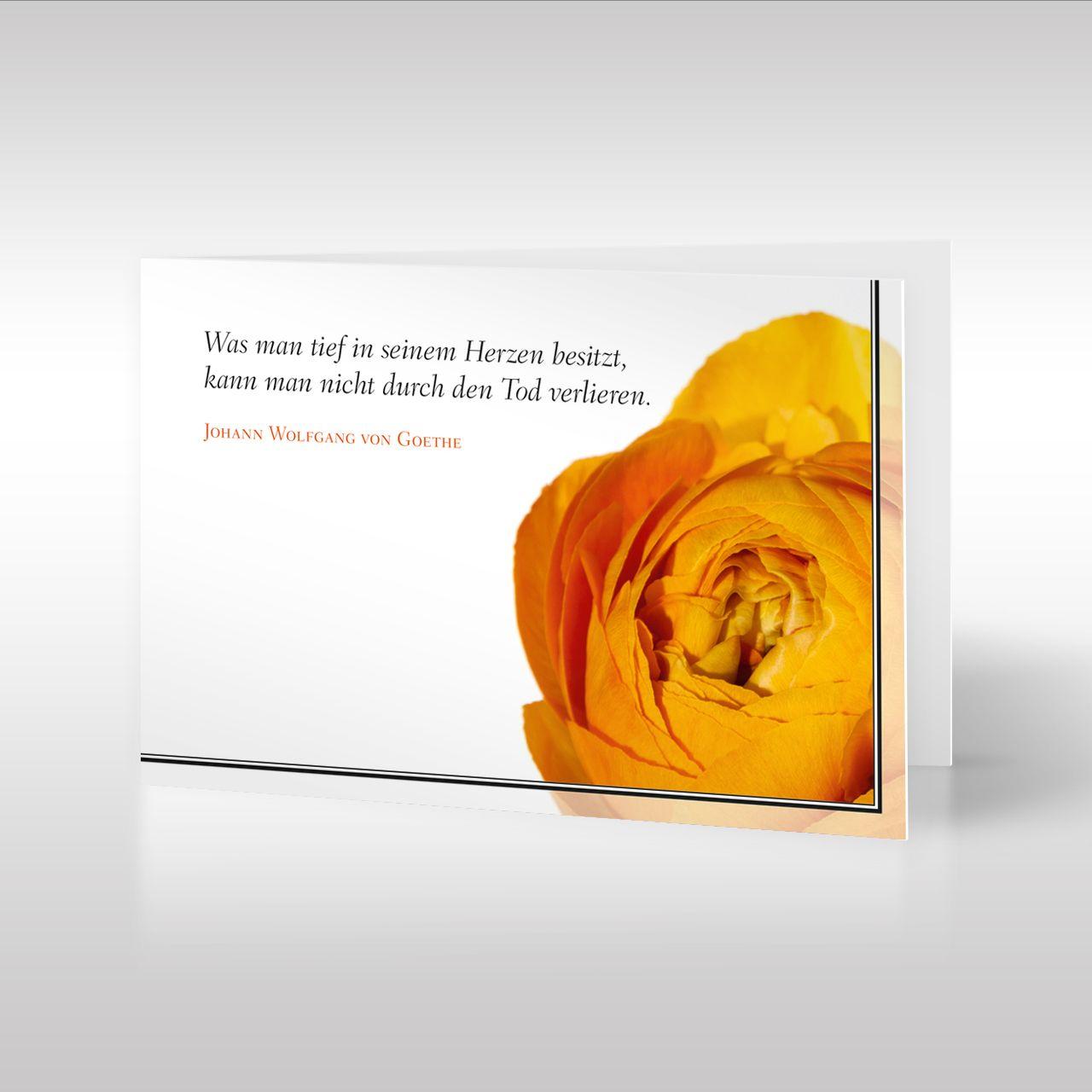 Ranunkel Im Trauerflor Design Trauerkarten Trauerkarte Trauer Trauer Zitate
