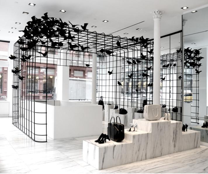 Alexander Wang cage installation - New York   Shop interior design,  Restaurant interior design, Retail interior