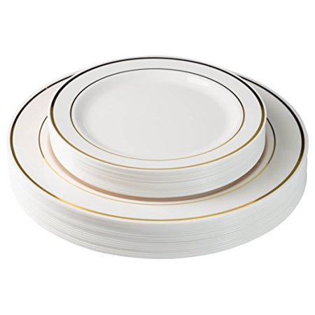 Exquisite 60 Pcs Plastic Disposable Dinnerware Set Combo