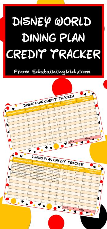 disney world dining plan credit tracker use this free table to keep