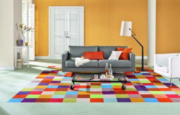 Ausgefallene Wohnideen Wohnzimmer teppichboden entfernen ausgefallene wohnideen bunte teppiche und