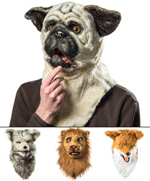 elope Mouth Mover Wolf Mask Gray