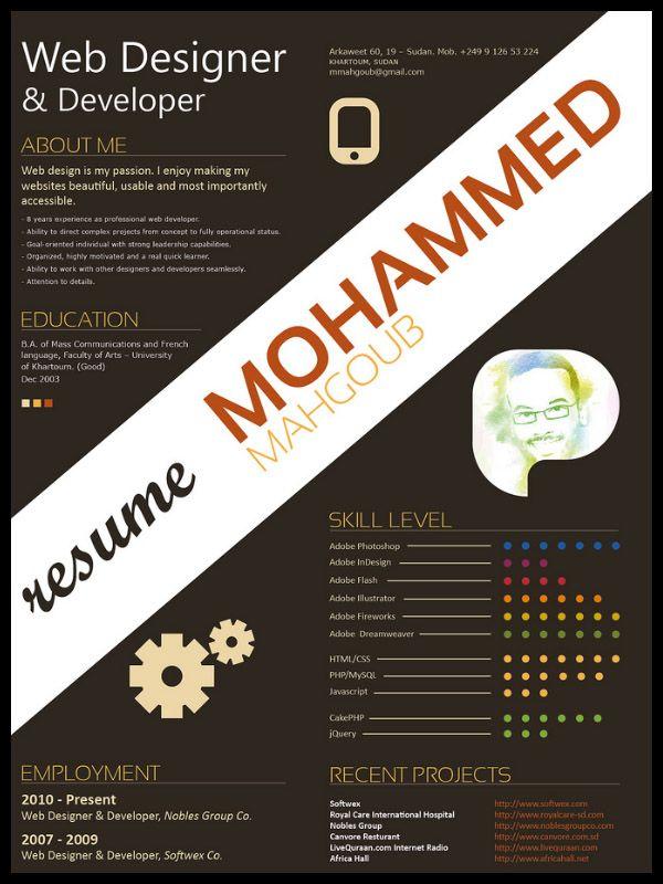 Graphic designer resume, best tips and examples Resume Pinterest - game design resume
