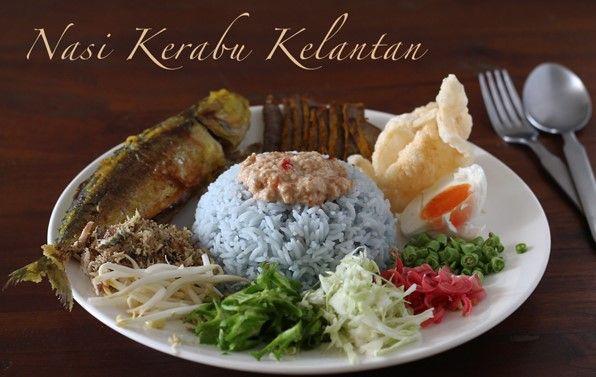 Resepi Nasi Kerabu Kelantan Biru Original Paling Simple Aneka Resepi Mudah Dan Sedap Nasi Kerabu Spicy Dishes Rice Salad