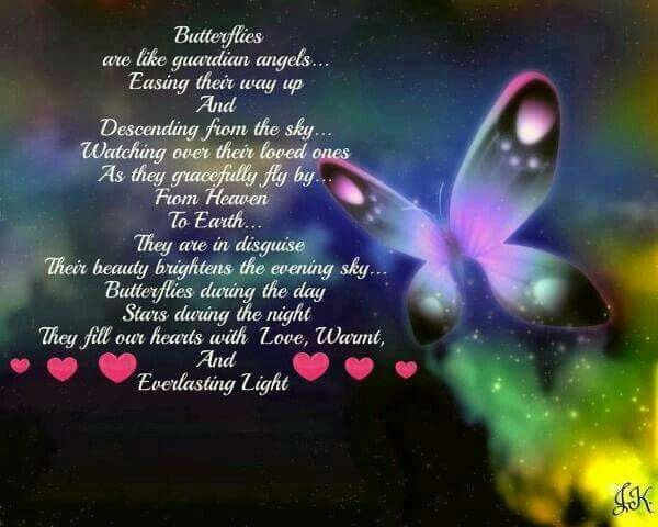Butterflies Are Like Guardian Angels Grief Happy Birthday In