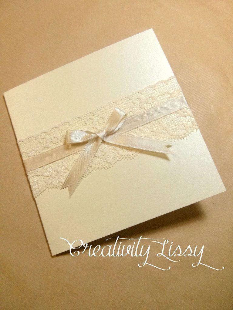 Partecipazioni Eleganti Color Avorio E Pizzo Cartoleria Per Matrimoni Biglietti Auguri Fai Da Te Matrimonio Partecipazioni Per Matrimonio
