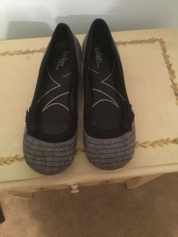 069305c654fd Indigo by Clarks ladies 11M black and white tweed slip on shoes  fashion   clothing  shoes  accessories  womensshoes  heels (ebay link)