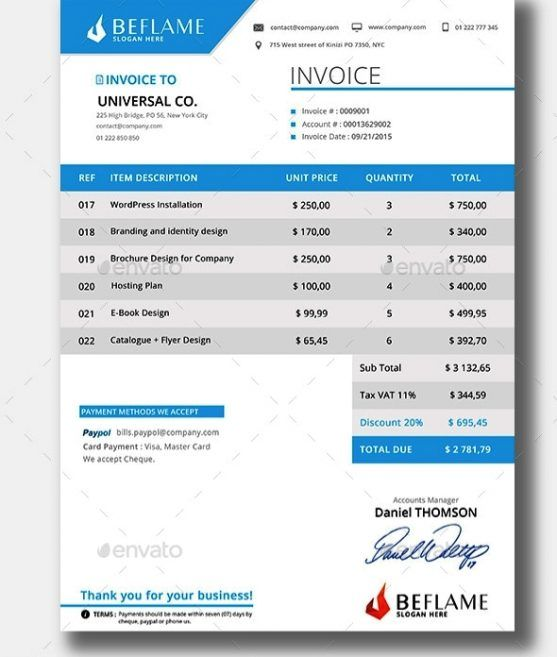 Desain Invoice Template Invoice Template Designs Download - Website Invoice
