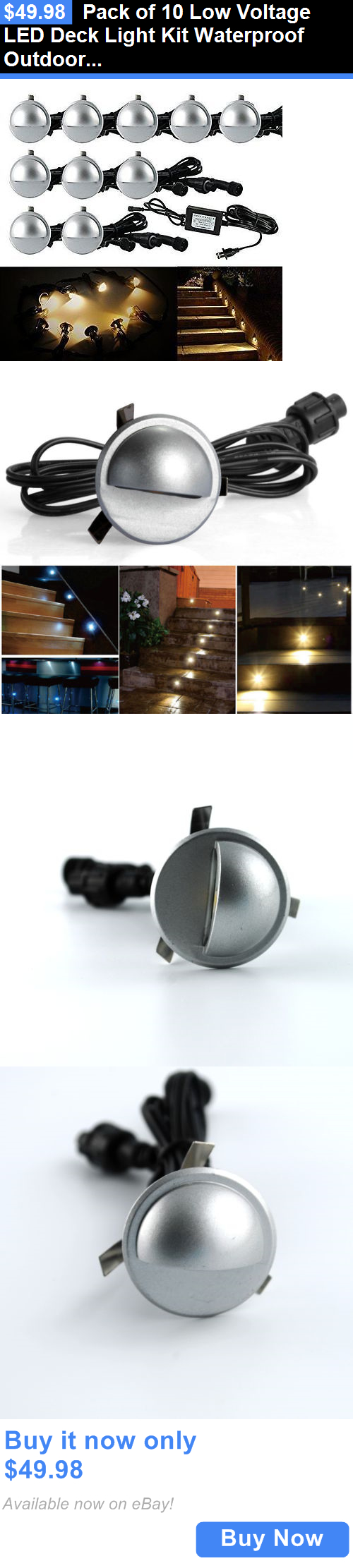 farm and garden Pack Of 10 Low Voltage Led Deck Light Kit