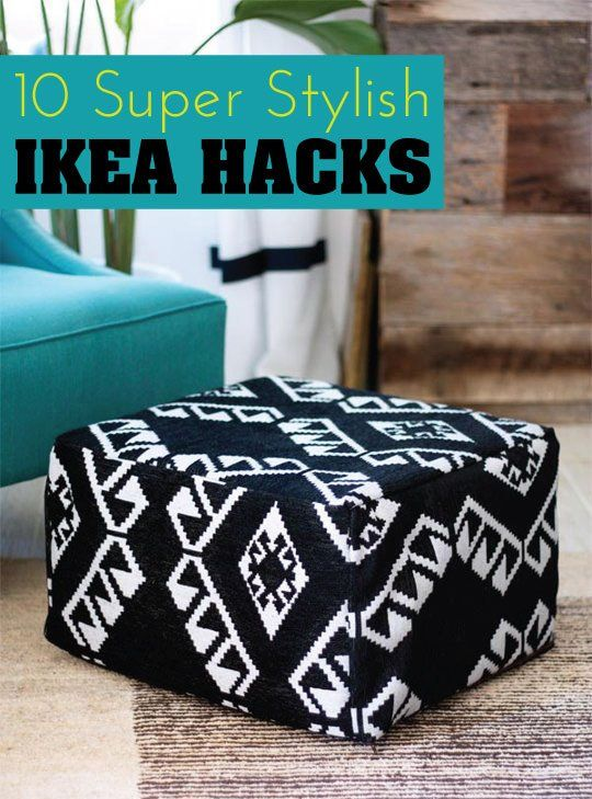 Pouf Ottoman Ikea Adorable 60 Super Stylish IKEA Hacks DIY Projects Apartment Therapy