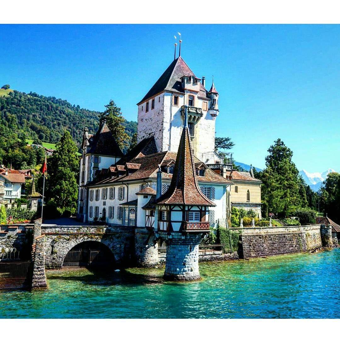 Oberhofen Castle Switzerland Castle Pretty Interlaken