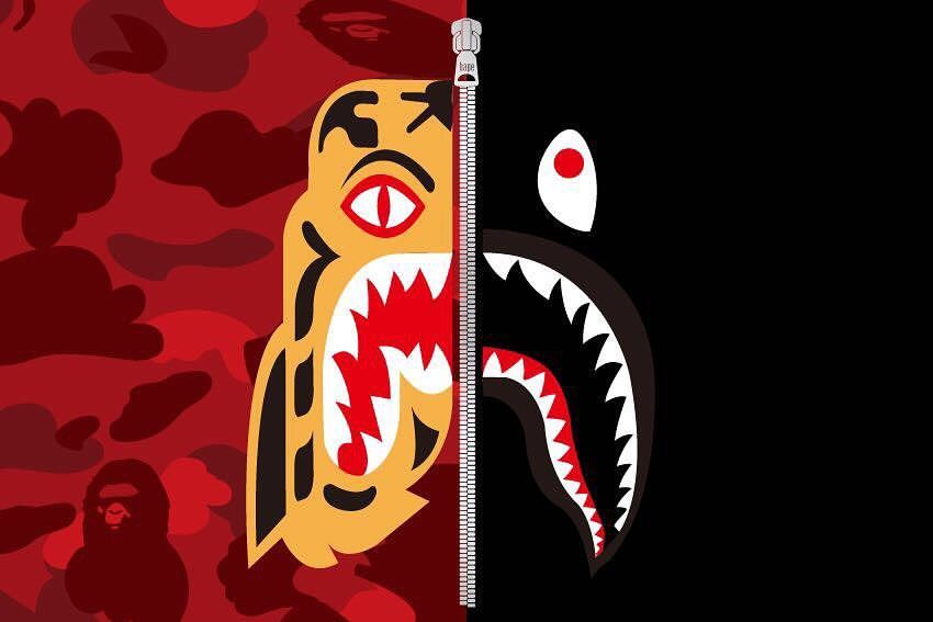 A Bathing Ape Tiger Shark Collection Coming Soon More Info In The News Section On Us Bape Com Bape Tiger Wallpaper Hypebeast Wallpaper Art Wallpaper