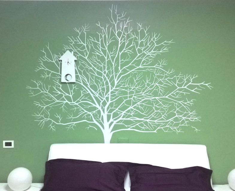 White birch tree wall decal branch forest wall decals autumn tree wall sticker wall mural modern home decor for living