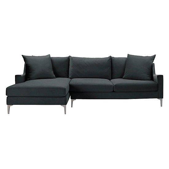 Details 2 Piece Chaise Sectional Slope Left Arm Facing