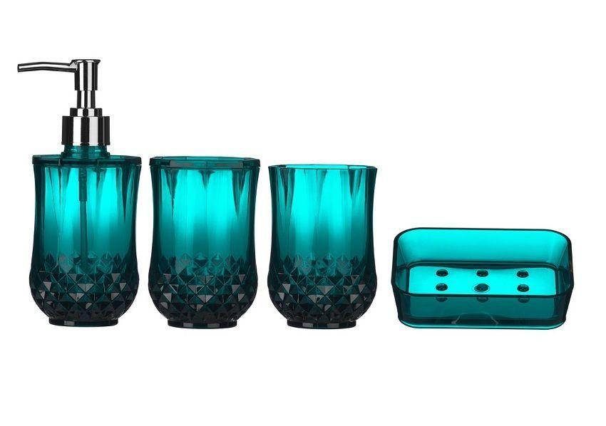 Details About Cristallo Bathroom Accessories Set 4pc Plastic Basin