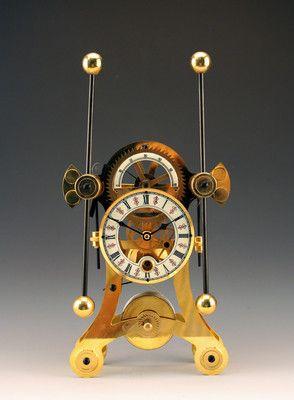 24k Gold Plated Fantastic Harrison Grasshopper Escapement Sea Skeleton Clock Ebay Antikvarnye Chasy Kaminnaya Polka Pesochnye Chasy
