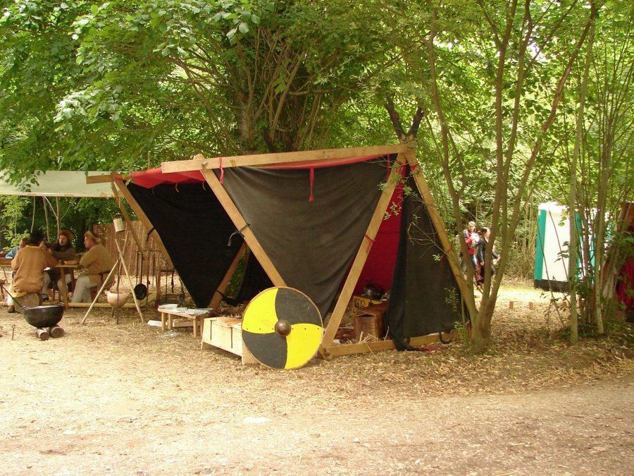 A frame tent with canopy can be assembled without ropes for Canvas tent plans