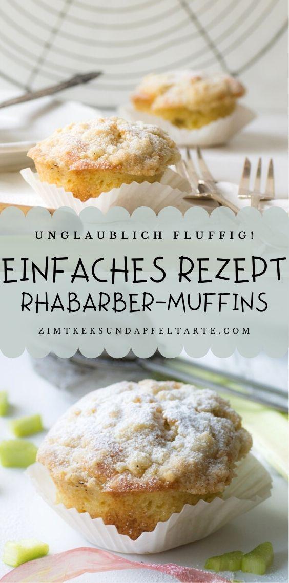 Rhabarber-Muffins mit Streuseln - blitzschnelles Rezept