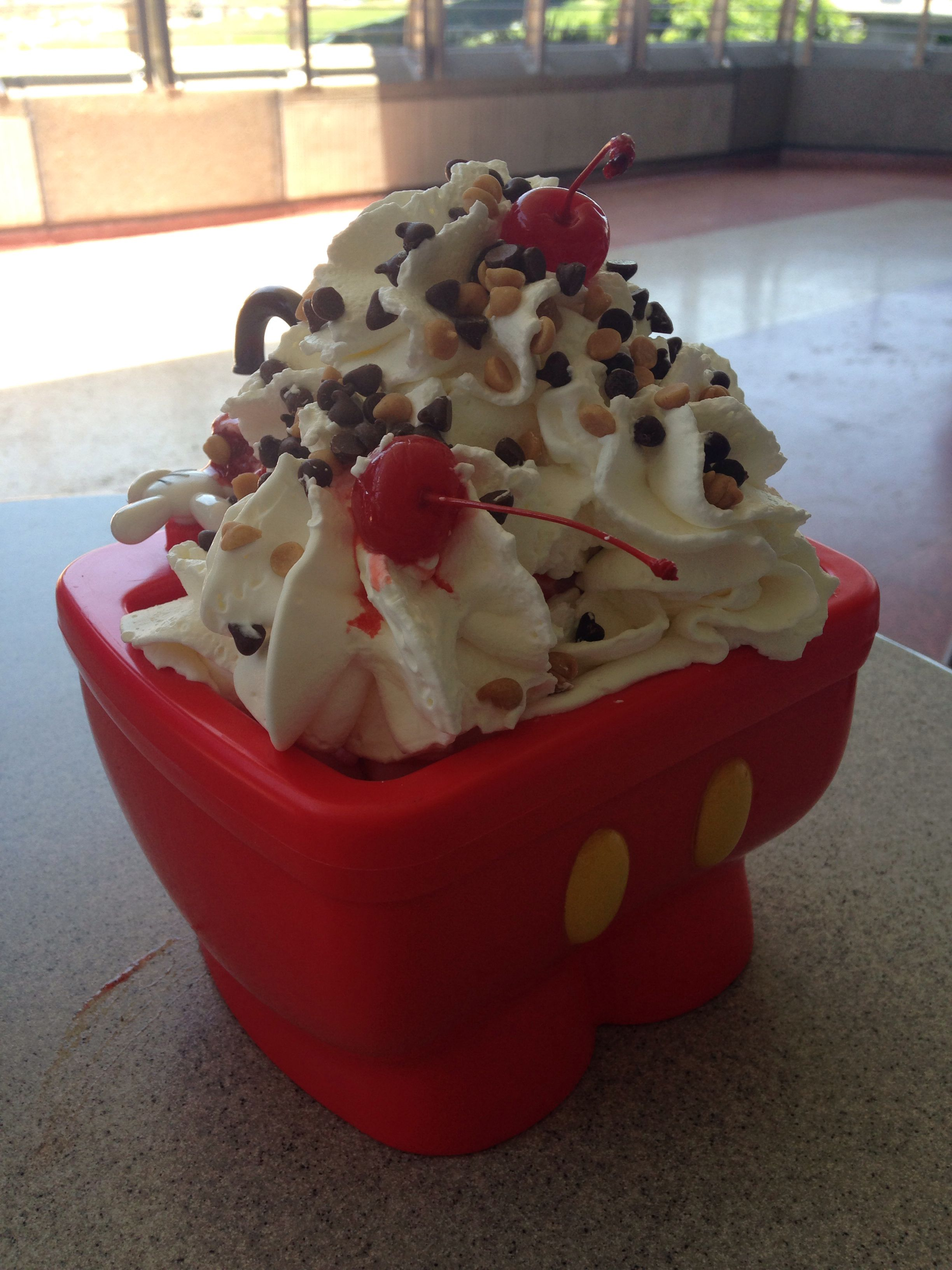 Mickey S Kitchen Sink Sundae At Magic Kingdom 2014 Disney World Mickey Kitchen Walt Disney