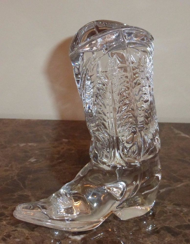 8805b9ba84dc Ralph Lauren Crystal Paperweight Cowboy Glass Boot | Paperweight ...