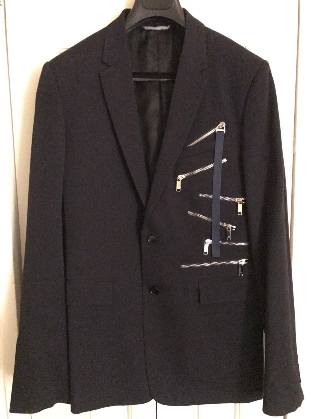 Dior FINAL DROP Black multi-zipper detail jacket blazer Size US M   EU  48-50   2 4f9d5829500