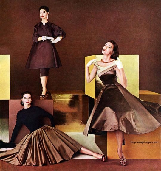 American Rayon Institute 1955 - #Mode #Fashion #Vintage #Années50 #Années1950…