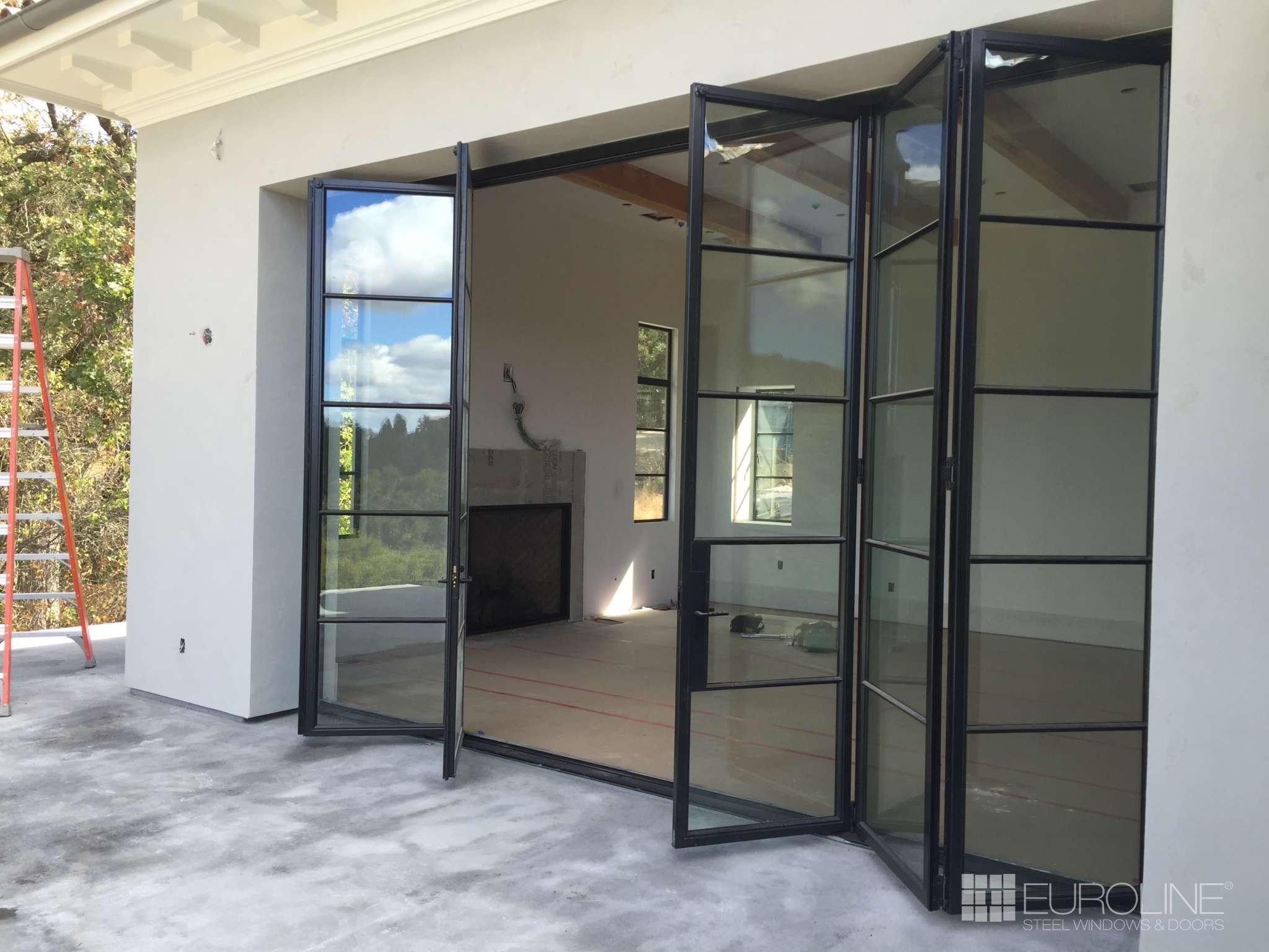 Bi Fold Doors Euroline Steel Windows Steel Doors Exterior Bifold Exterior Doors Steel Frame Doors