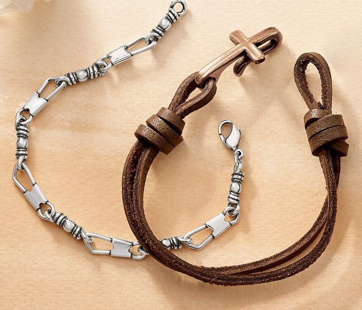 Fishers Of Men Bracelet And Cross Hook On Leather Jamesavery
