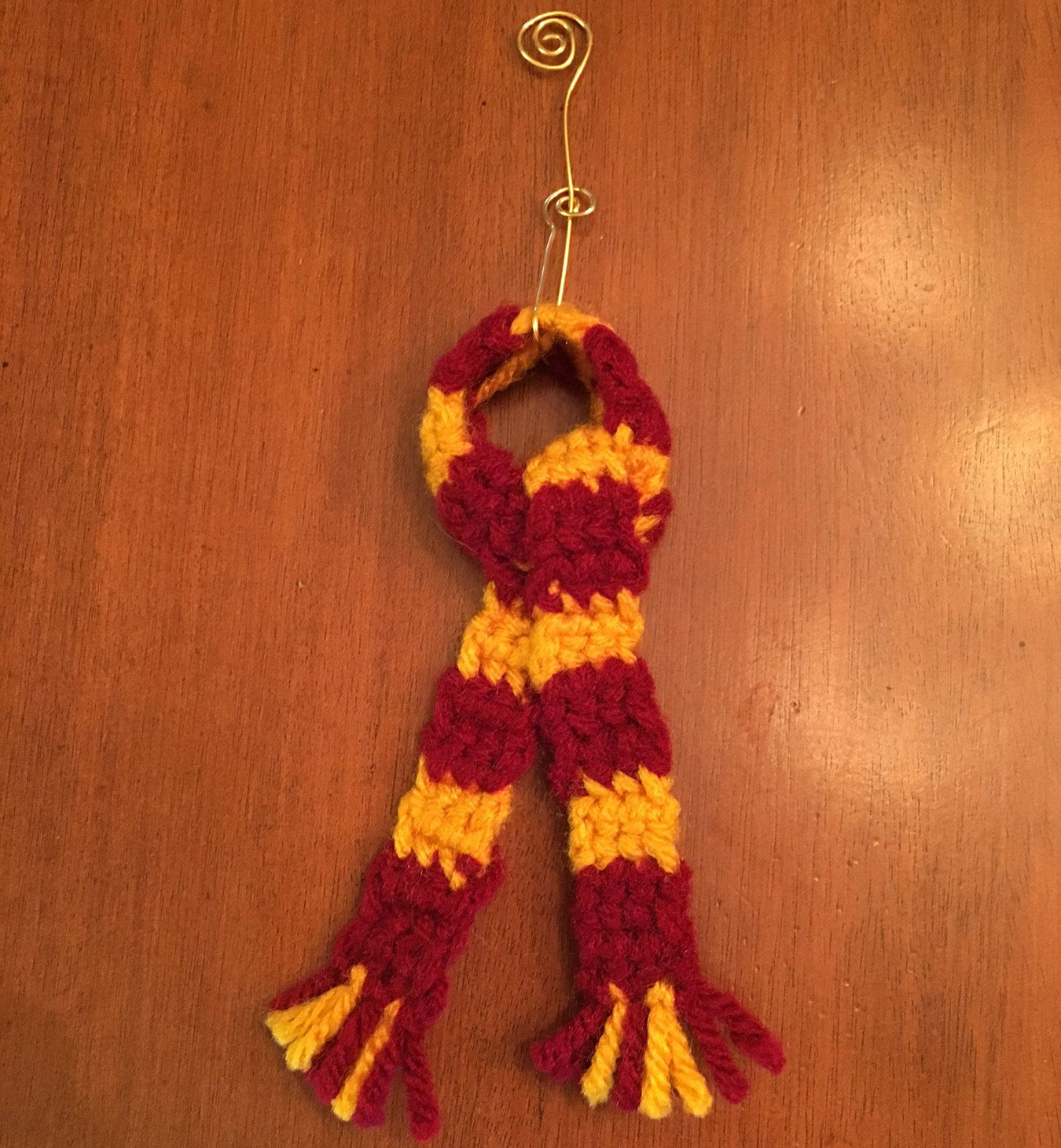 Harry Potter House Color Miniature Scarf Christmas Ornament ...