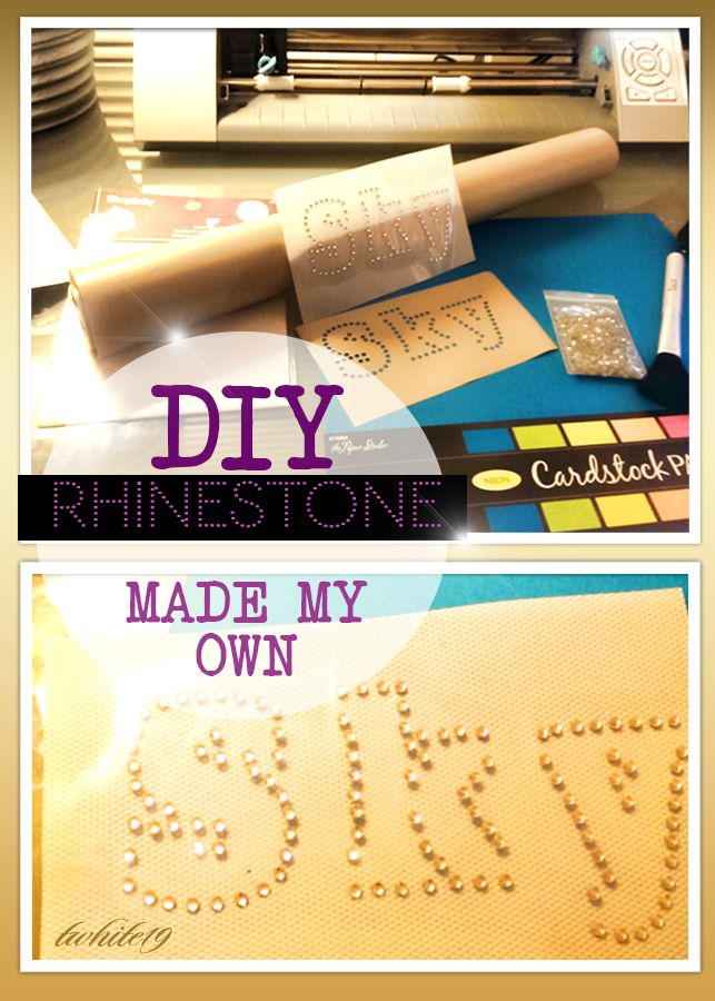 I Wanted To Make My Own Rhinestone Template Without Sticky Flock - How to make rhinestone templates