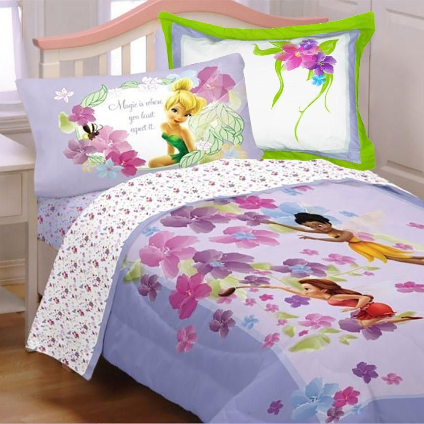 Fairies Twin Bedding Set 5pc Magic Art Comforter Sheets Sham