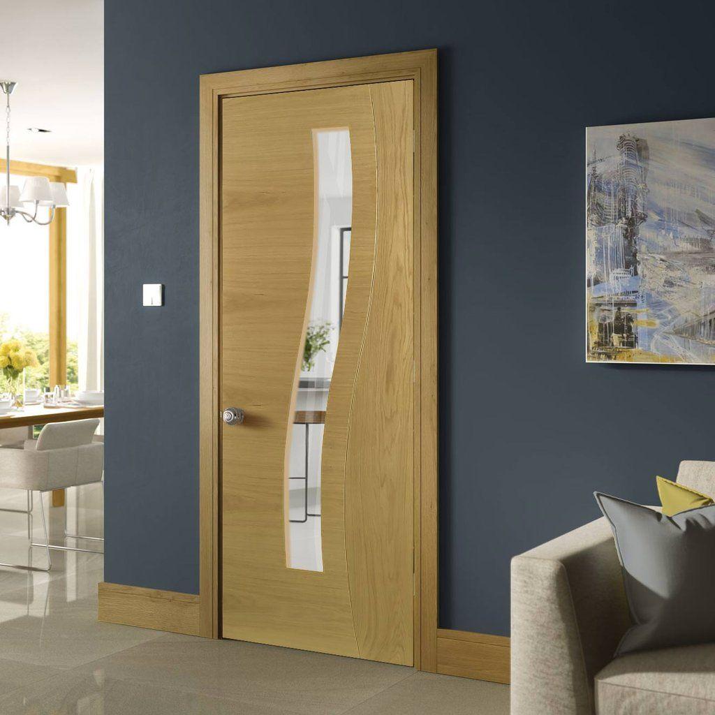Deanta cadiz real american white oak crown cut veneer door with cadiz real american white oak crown cut veneer door with clear safety glass prefinished planetlyrics Gallery