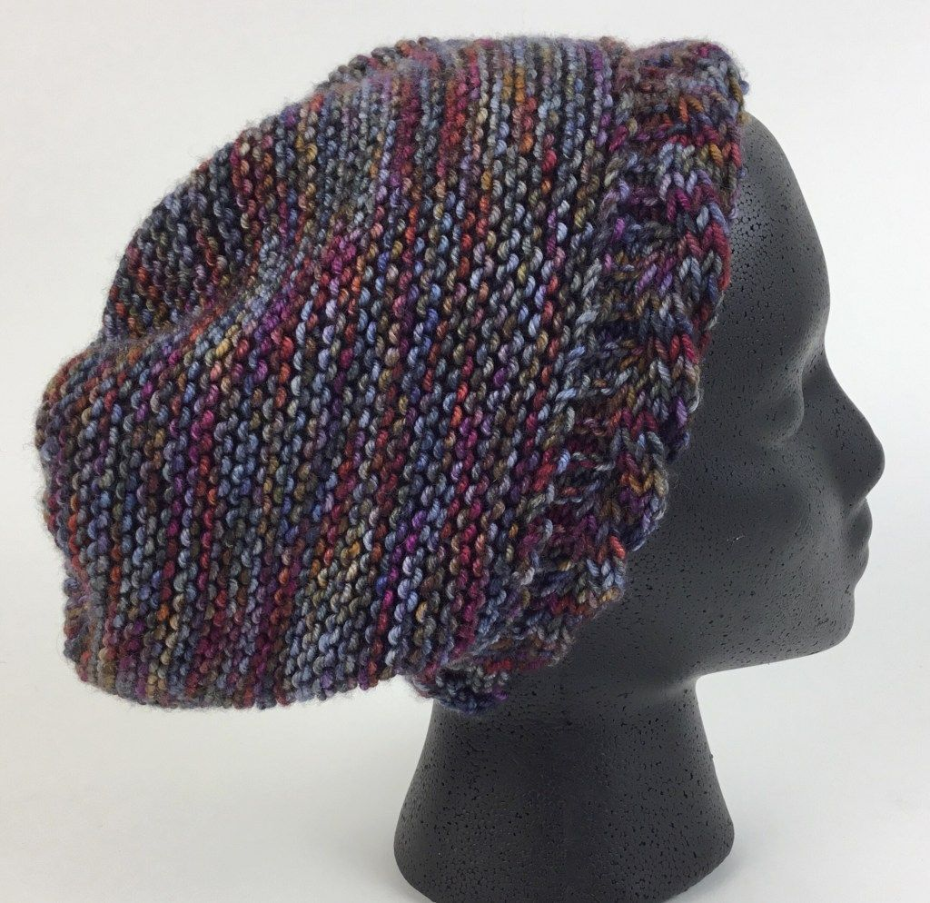 Free Knit Hat pattern with reversible cabled brim. Can be ...