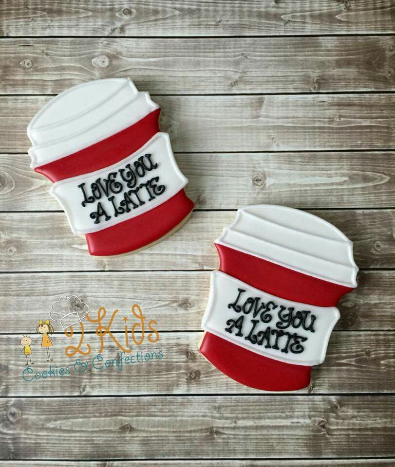 """2 Kids Cookies: Valentine's Day, """"Love You A Latte"""