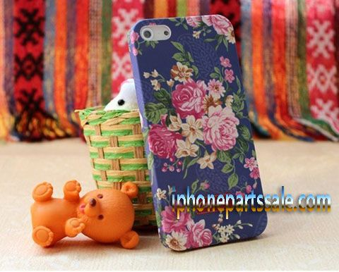 Apple iPhone 5 Catholic Pastorale Flowers Kidston Hard Plastic Protective Case (J)