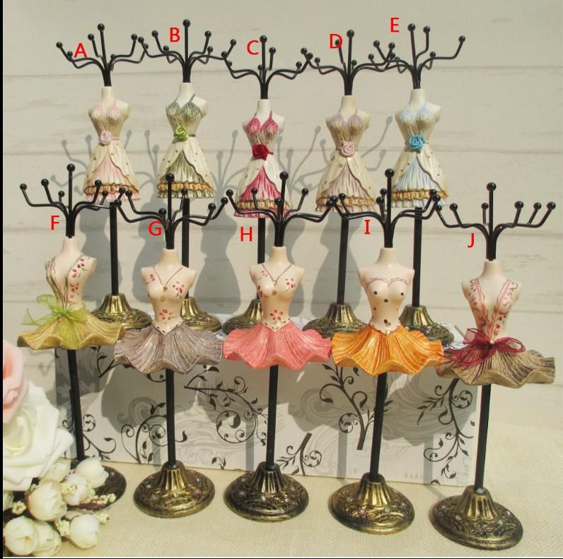 10 style Dress Doll Mannequin Necklace Earring Ring Holder Jewelry