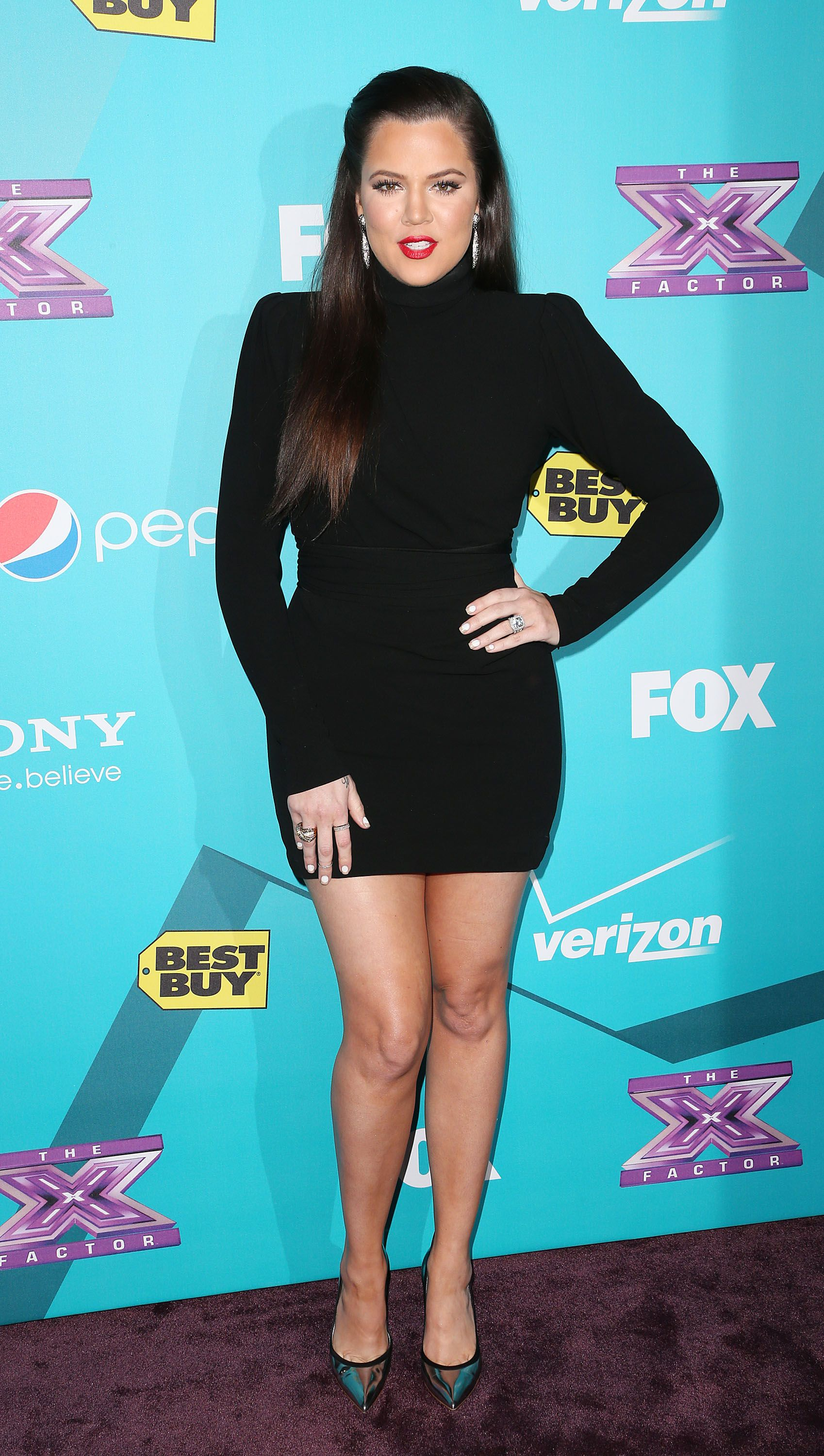 Khloe Kardashian at The X Factor Finalists Party in LA 5th November ...