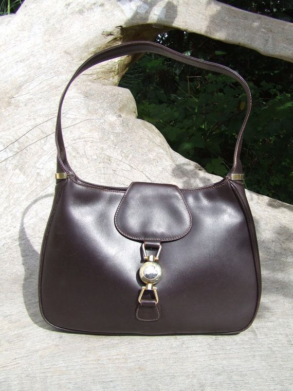 Tobias Italian Jackie O Style Matte Brown Leather By Thejaderoom