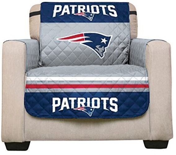 Nfl New England Patriots Reversible Recliner Protector Elastic Straps 80 By 65