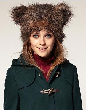 2547725860c Faux Fur Bear Ears Hat in 2019