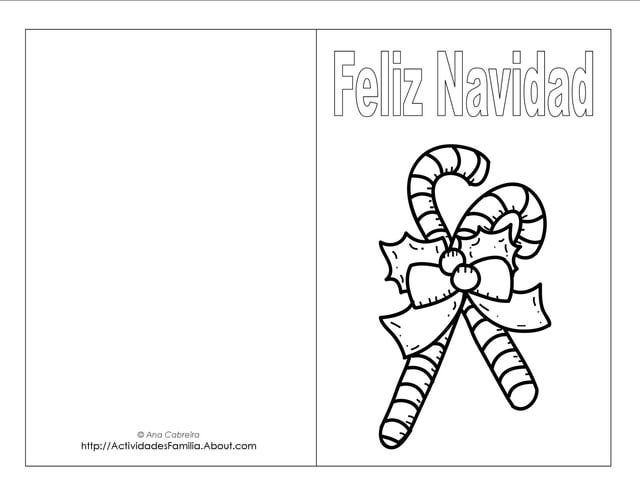 Descargra Gratis: Tarjetas de Navidad para colorear | Navidad ...