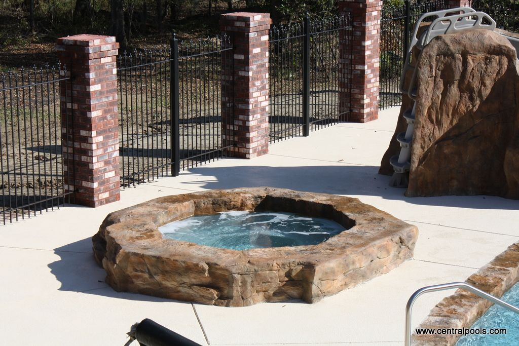 Central Pools Inc Ricorock Spa Coping Swimming Pools