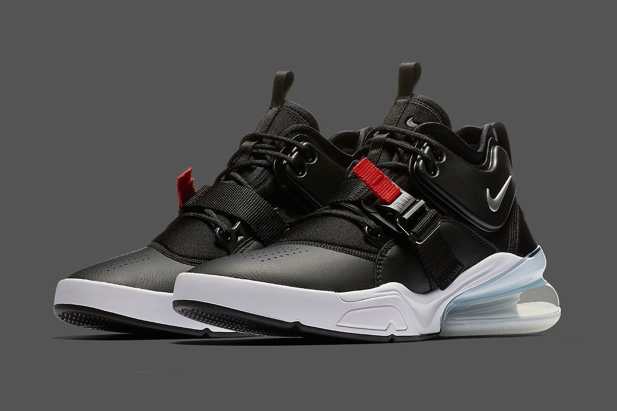 Nike Air Force 270 Bred Colorway Release black red sliver