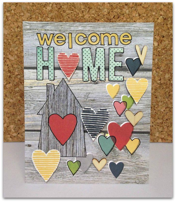 Welcome Home Card Scrapbook Com Homemade Card Using Homespun