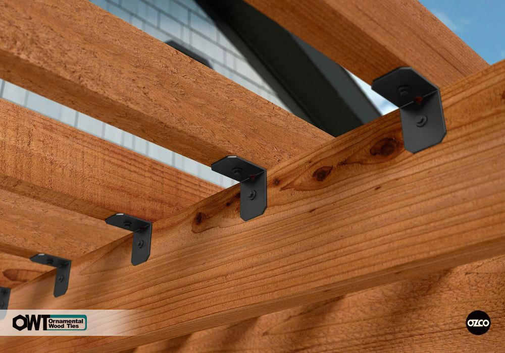Do It Yourself Home Design: 2 In. Rafter Clips Ironwood (10pk