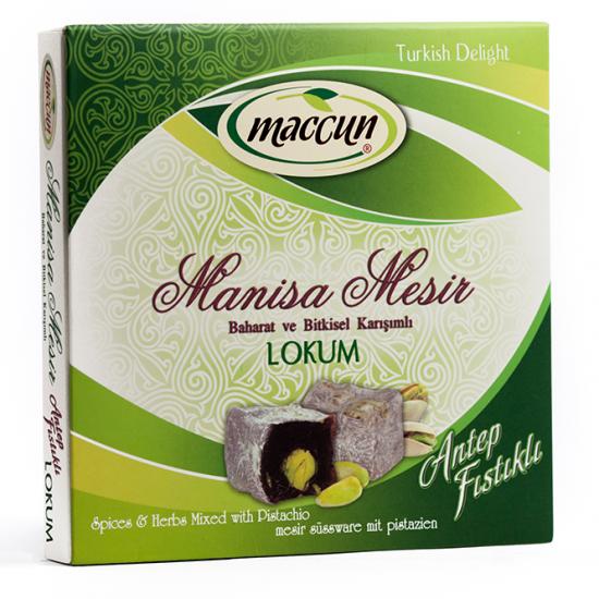 حلويات تركية راحة الحلقوم التركية بفستق عنتاب معجون مانيسا التقليدي على شكل راحة راحة معجون مسير بفستق عنتاب راحة المعجون التركي السحري مقوي عام وقاية نزل Turkish Delight Herb Mix Herbs