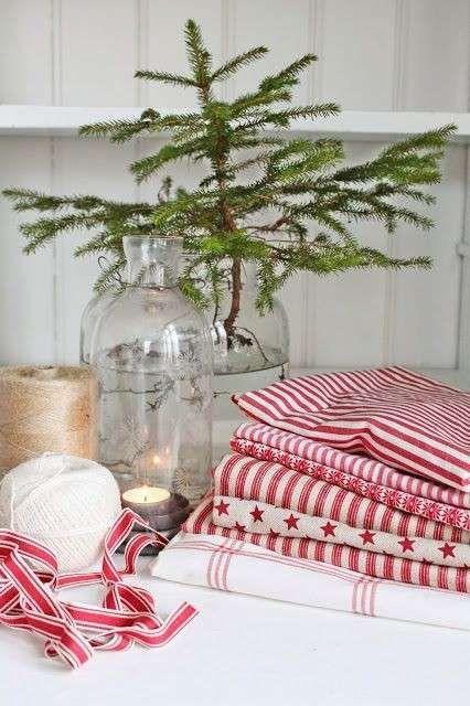 Tessuti Stile Shabby Chic.Decorazioni Tavola Di Natale In Stile Shabby Chic Natale