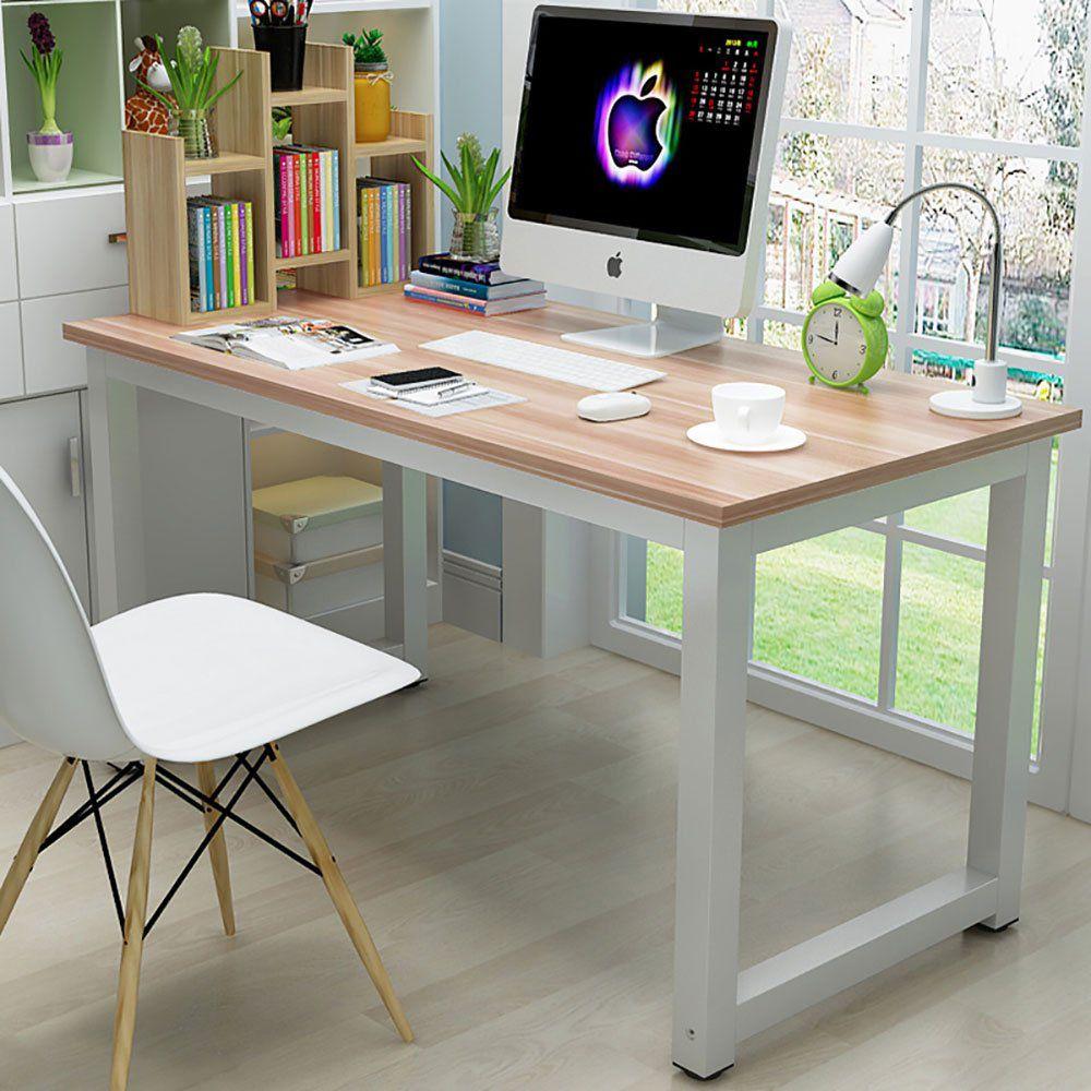 Home In 2020 Wood Computer Desk Pc Desk Home Office Computer Desk