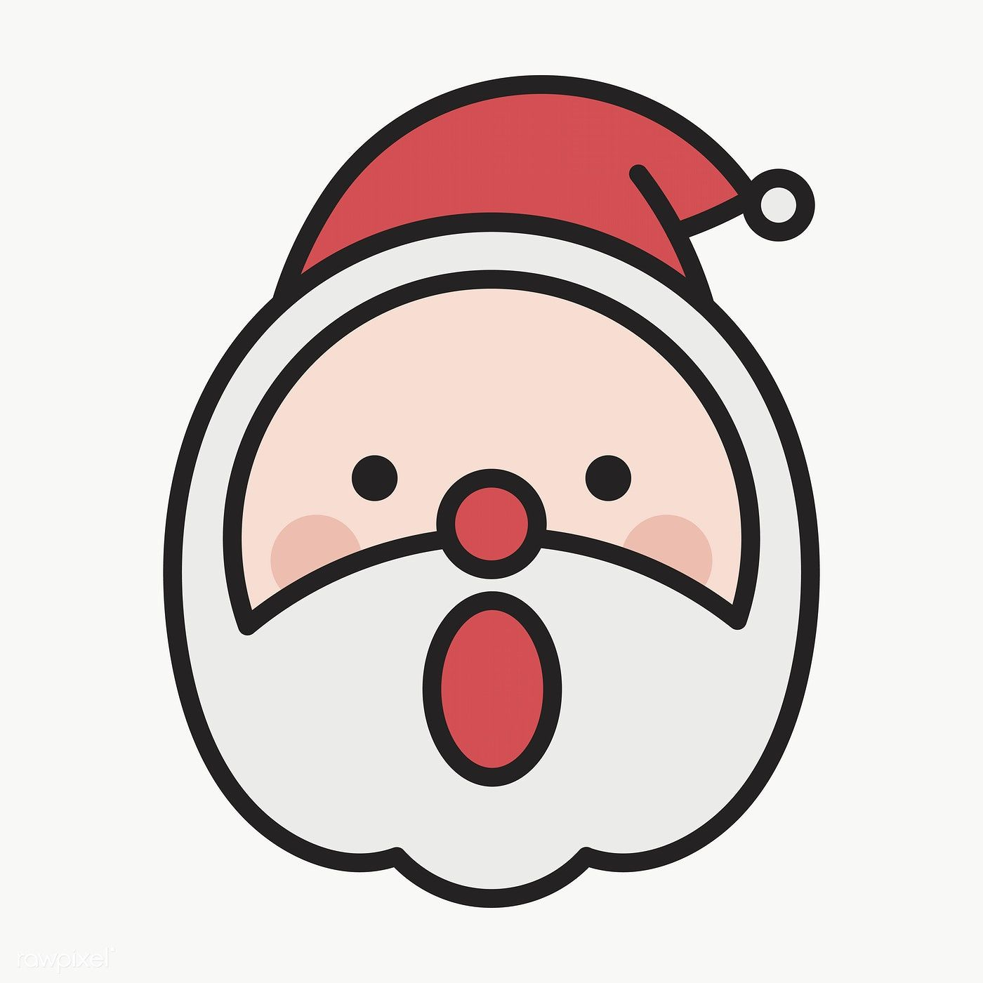 Download Premium Png Of Santa Smiling With With Open Mouth Emoticon On Drawing Cartoon Faces Image Fun Emoticon