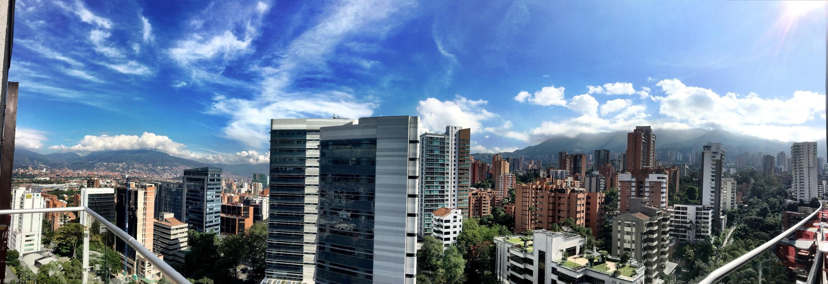 Panorama of Medellin Colombia from the rooftop of a hotel. #travel #photography #nature #photo #vacation #photooftheday #adventure #landscape